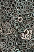 abstract washer spare part for background used - stock photo