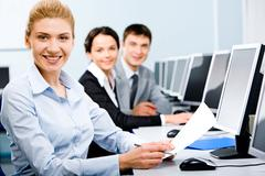 Successful students - stock photo