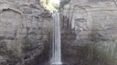 Stock Video Footage of 300' Waterfall