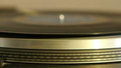 Turntable spinning, low angle different hues. - stock footage
