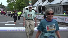 2015 The Tamarack Ottawa Race Weekend 5K-10K, and  marathon races. Finish line. - stock footage