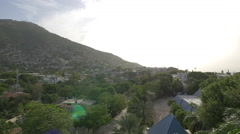 Houses on the hills of Haiti - stock footage