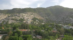 Houses on the hill in Haiti - stock footage