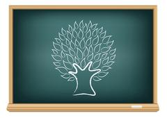 Stock Illustration of board tree