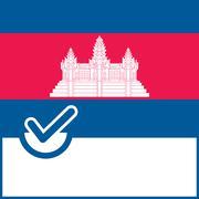 Voting symbol Cambodia flag Stock Illustration