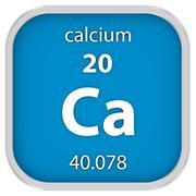 Calcium material sign - stock photo