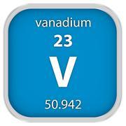 Vanadium material sign - stock photo