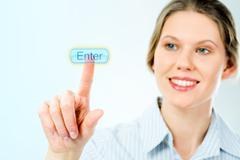 Enter button Stock Photos