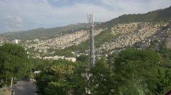 Many houses on a hill in Haiti - stock footage