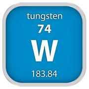 Tungsten material sign - stock photo