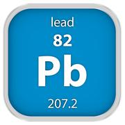 Lead material sign - stock photo