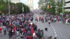 2015 The Tamarack Ottawa Race Weekend marathon race. Gaussian Blur Stock Footage