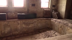 Old Plunge Bath at an Abandoned Boy's Reformatory Stock Footage