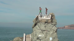 Cliff Diver Stock Footage