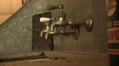 Old style faucets Stock Footage