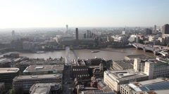Aerial View of Tate Modern Art Gallery in London Stock Footage