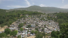 Crowded houses in Haiti Stock Footage