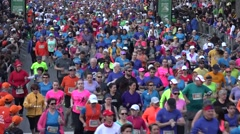 2015 The Tamarack Ottawa Race Weekend 5K-10K, kids, and  marathon races Stock Footage