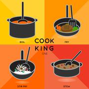 COOK KING ONE Stock Illustration