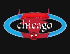 CHICAGO BULL - stock illustration