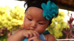 Fat Baby Girl Stock Footage