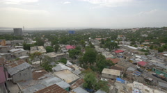 Aerial view with streets and houses in Haiti - stock footage