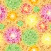 Endless colorful spots pattern - stock illustration