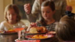 Children at a birthday party celebration Stock Footage