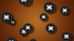 Flying virus icons. Looping. Alpha channel is included. Stock Footage