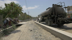 Afternoon on a street in Port-au-Prince, Haiti - stock footage