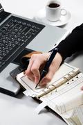 Writing message Stock Photos