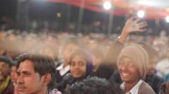Happy boys in Indian festival smiling, medium shot, shallow DOF Stock Footage