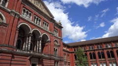 The Victoria and Albert Museum Exterior London Stock Footage