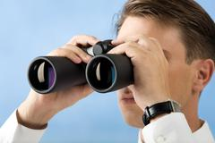 Observing - stock photo
