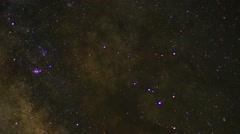 Time lapse of starfield at Cherry Springs State Park Stock Footage