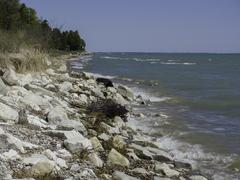 Eroding Lake Michigan Shoreline Stock Photos