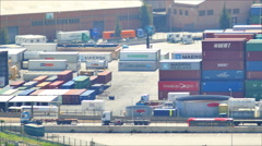 Port Container Dock Loading Cargo 4K UHD Stock Footage