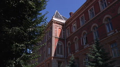Chernivtsi regional state administration. Front view. Stock Footage