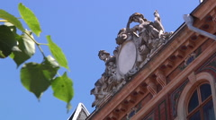 Chernivtsi regional state administration. Barelief. - stock footage