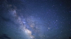 3Axis Motion Control Astro Time Lapse of Milky Way till Dawn in Desert Tilt Down Stock Footage