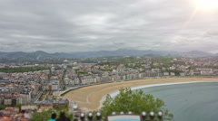 San Sebastian - Donostia, The Basque Country, Spain. Timelapse. Stock Footage