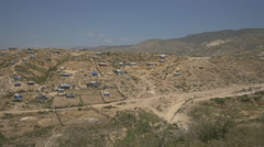 Village with houses in Haiti Stock Footage