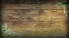 Snowy Wood Plank 1080  background Stock Footage