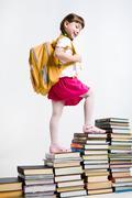 Clever schoolgirl Stock Photos