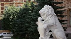 Chernivtsi regional state administration. The lion. - stock footage