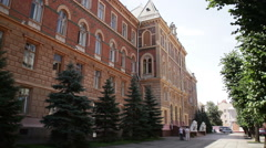 Chernivtsi regional state administration. Perspective view. Stock Footage
