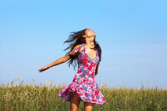 Enjoying freedom Stock Photos