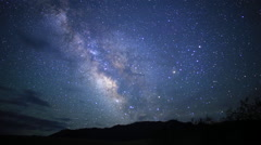 3Axis Motion Control Astro Time Lapse of Milky Way till Dawn in Desert - stock footage