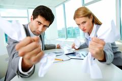 Aggressive managers Stock Photos