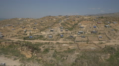 Village with houses on a hill in Haiti Stock Footage